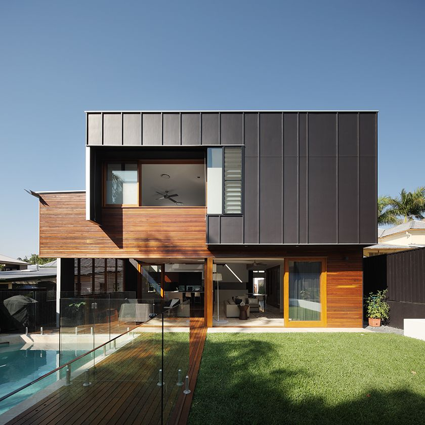 Small Modern House In Australia: The Byram House, Built On A Small Lot In Inner City