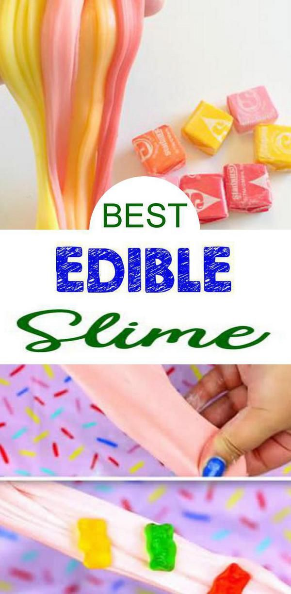 9 DIY Edible Slime Ideas – How To Make Homemade Edible Slime – Easy & Fun Recipes For Kids – Kids Craft Activities – Food Fun Crafts – Party Favors #edibleslime