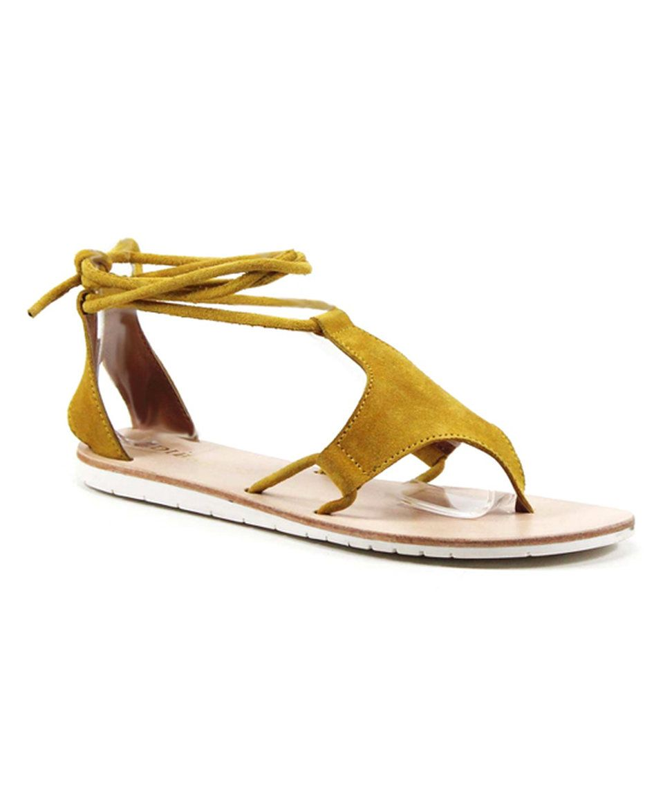 Take a look at this Yellow This 'N That Suede Sandal today!