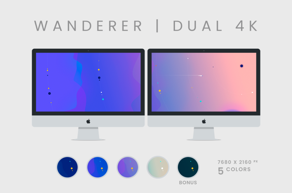 Wanderer Dual 4k Wallpaper Pack Creative Desktop Wallpaper Game Room Design Wallpaper