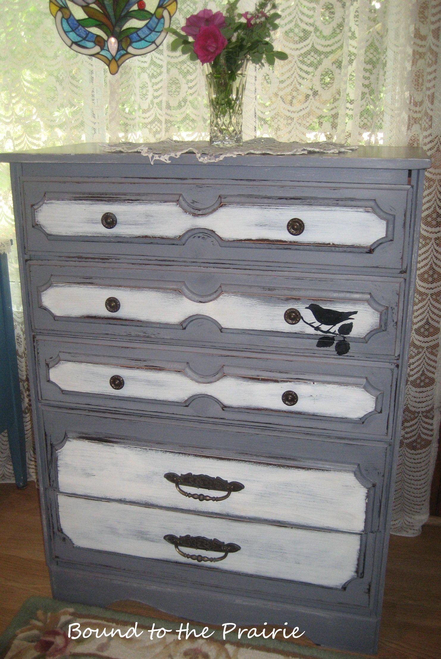Memories of versaillesalk painted antique dresser bound to