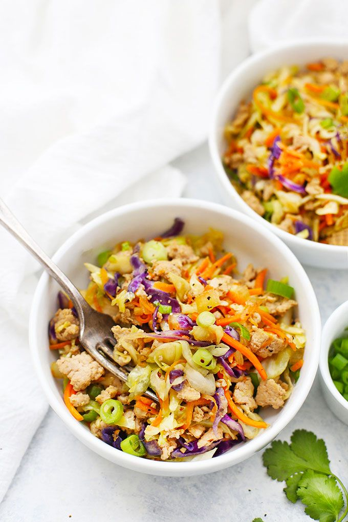 Egg Roll Bowls Recipe Eggroll In A Bowl Healthy Slow