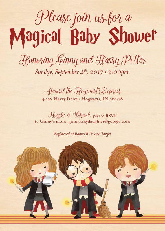 Wizard Kid Baby Shower Invitation Wizard Kid Shower