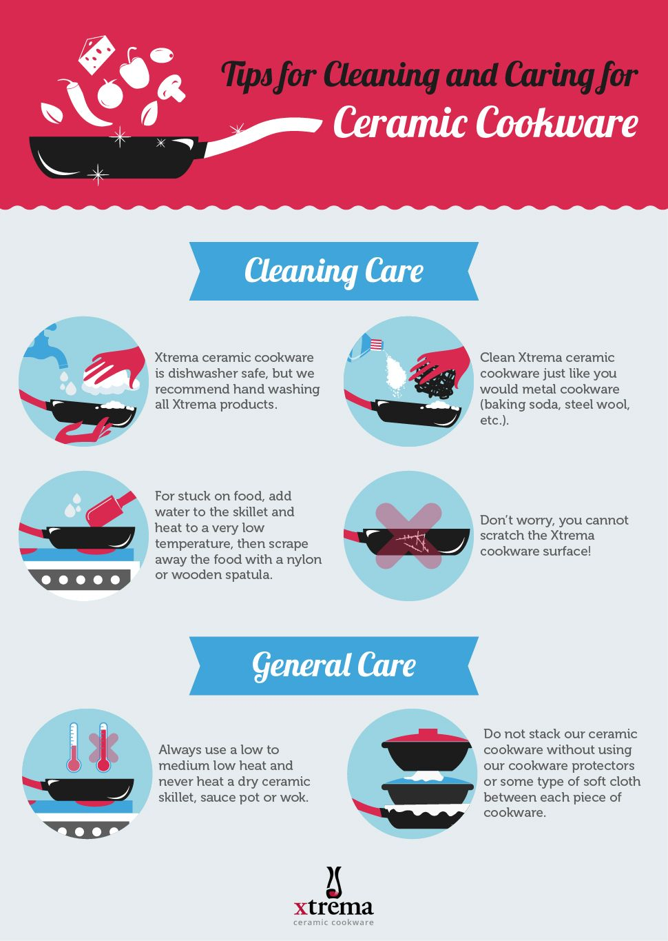 Tips for Cleaning and Caring for Ceramic Cookware