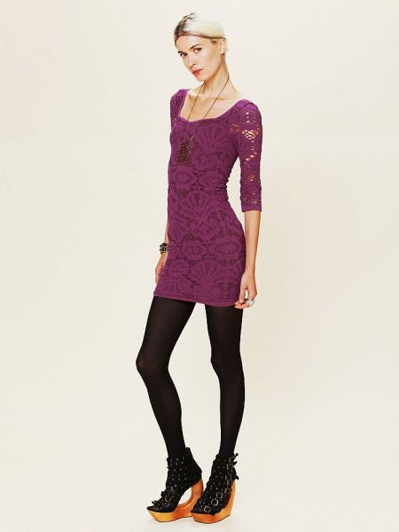 bc30be717bba Free People Intimately Purple Medallion Bodycon Dress | OUR PRICE: $31.50 # freepeople #festivalstyle #boho #wanderlust