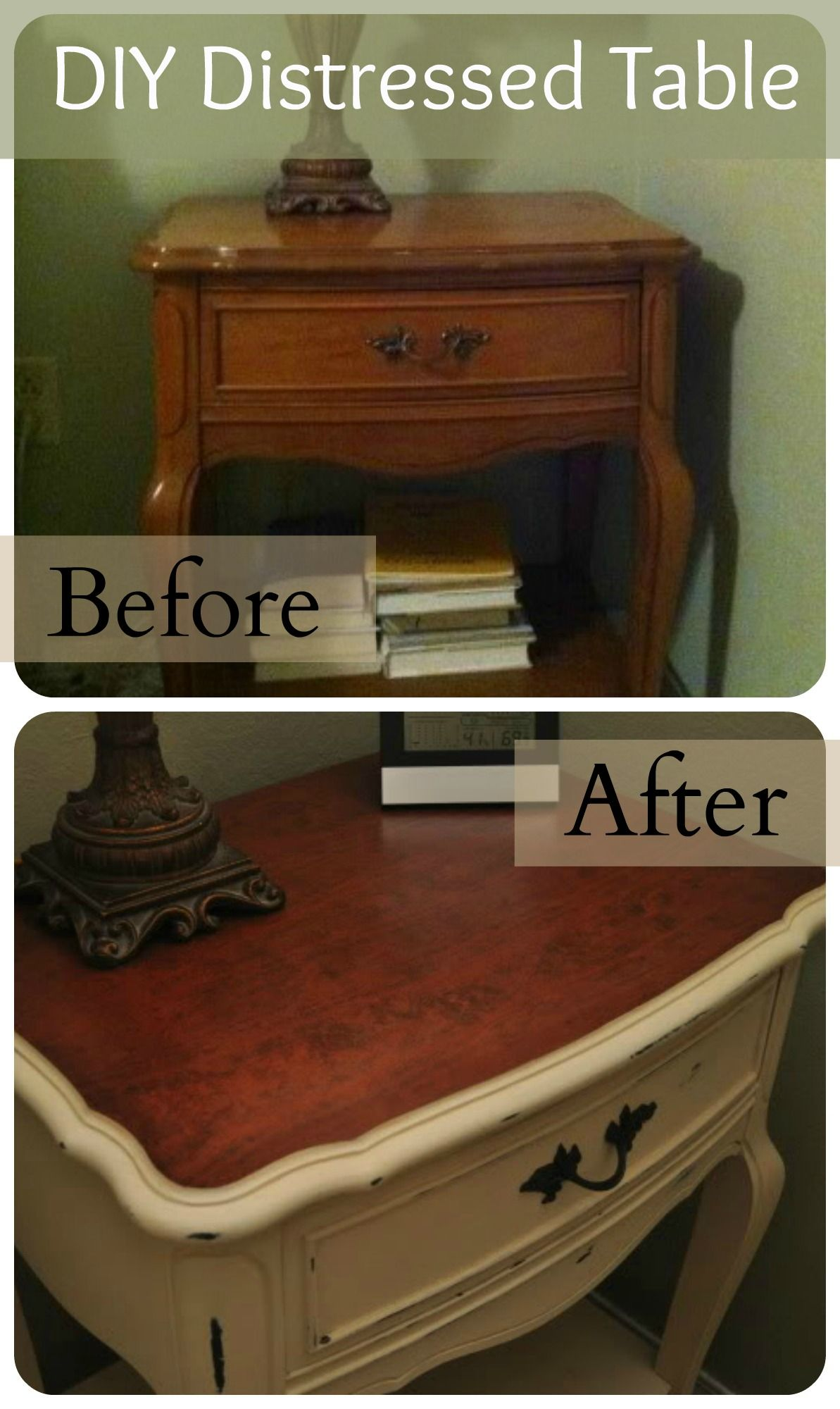 DIY Distressed Table Transformation Tutorial Painting