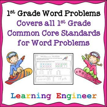 1st Grade Math Center | Word problems, Common core standards and ...