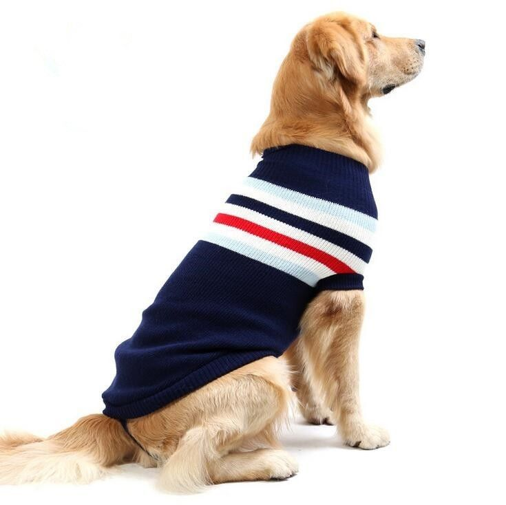 Large Extra Big Boy Dog Sweater Warm Pet Coat Clothes For Labrador