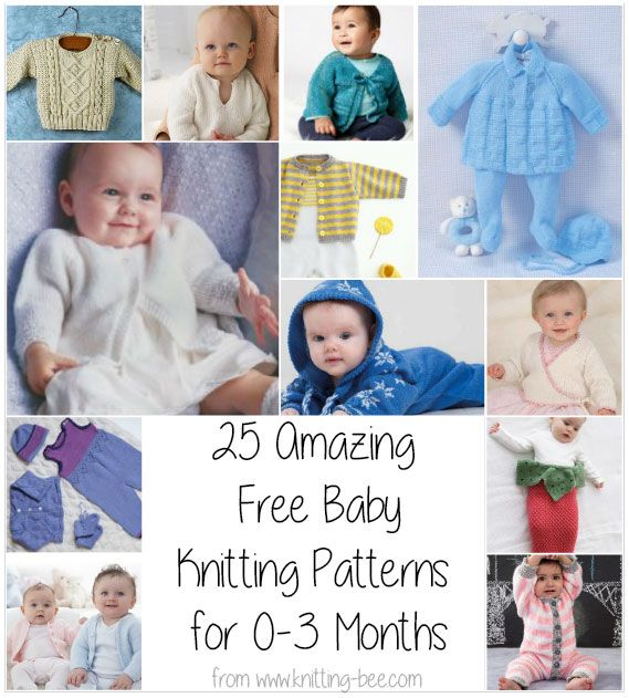 ce5418490394 25 Amazing Free Baby Knitting Patterns for 0-3 Months