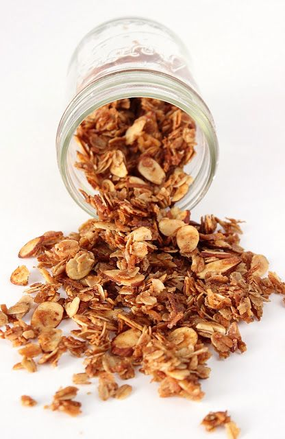 Granola {Honey + Almond}. Maybe add in some raisins to cooled mixture