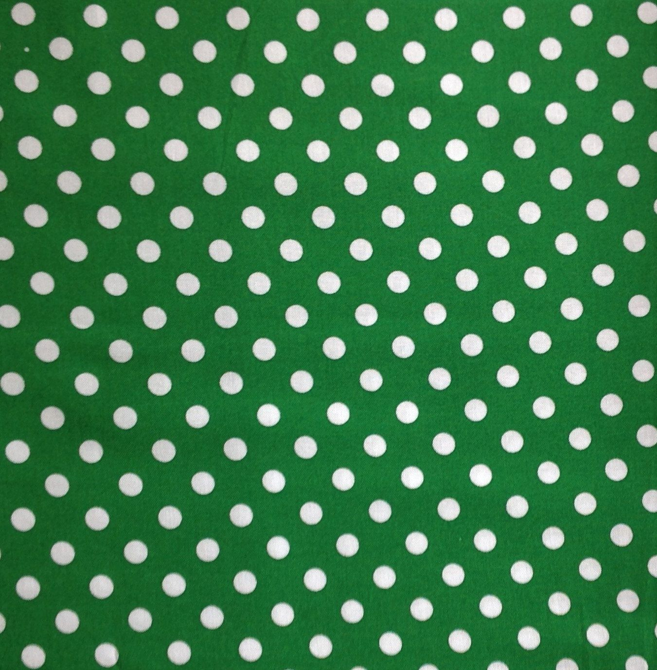 Big Dot Kelly Green Cotton Fabric Green Cotton Fabric Polka Dot Fabric White Polka Dot Fabric Dotted Fabric Polka Dot Fabric Green Cotton