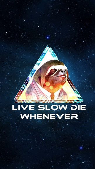 Live Slow Die Whenever iPhone 5C / 5S wallpaper Sloth
