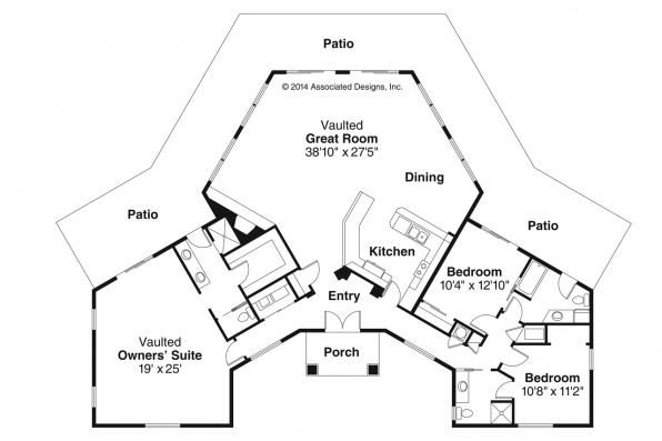 Spanish Style House Plans Santa Ana 11 148 Associated Designs How To Plan Ranch Style House Plans Southwest House