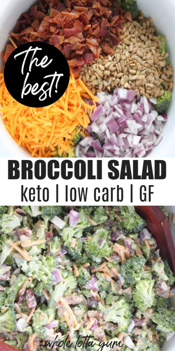 Photo of Keto Broccoli Salad Without Sugar
