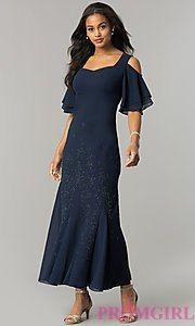 Long Cold-Shoulder Mother-of-the-Bride/Groom Dress #groomdress