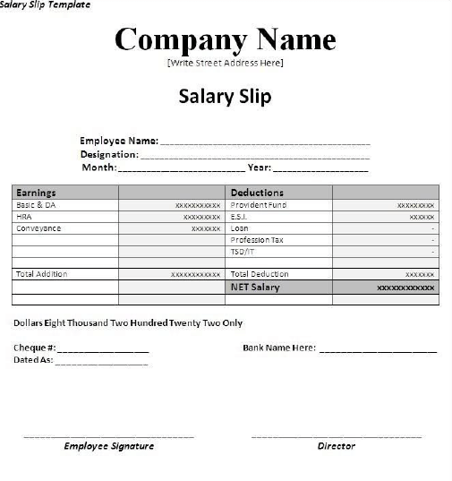 Pack Of 28 Pay Salary Slips Templates Free Daily Life Docs Word Template Payroll Template Invoice Template