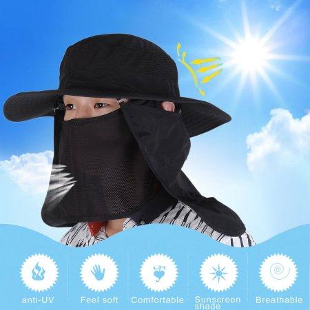 bc4218d8d92 Man Woman Visor Hat UV Protective Face Neck Cover Fishing Sun Protect Cap