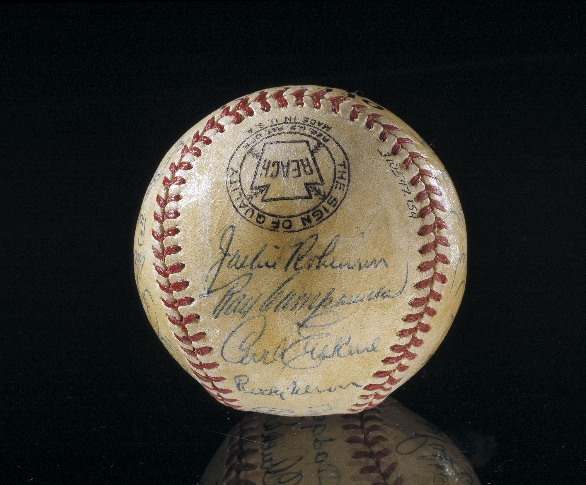 Signed ball by the 1952 World Series runnerup Brooklyn