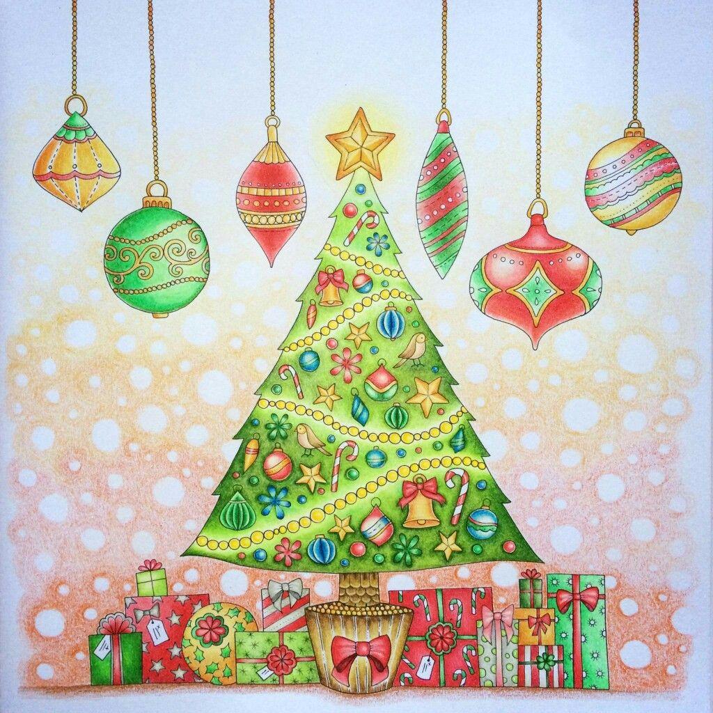 Johanna's Christmas Coloring Book- Christmas Tree with ...