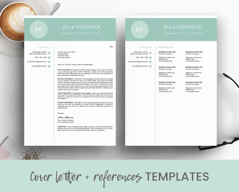 Teacher Resume Template For Word Teacher Cv Template Etsy Teacher Resume Template Teacher Cv Template Teacher Resume