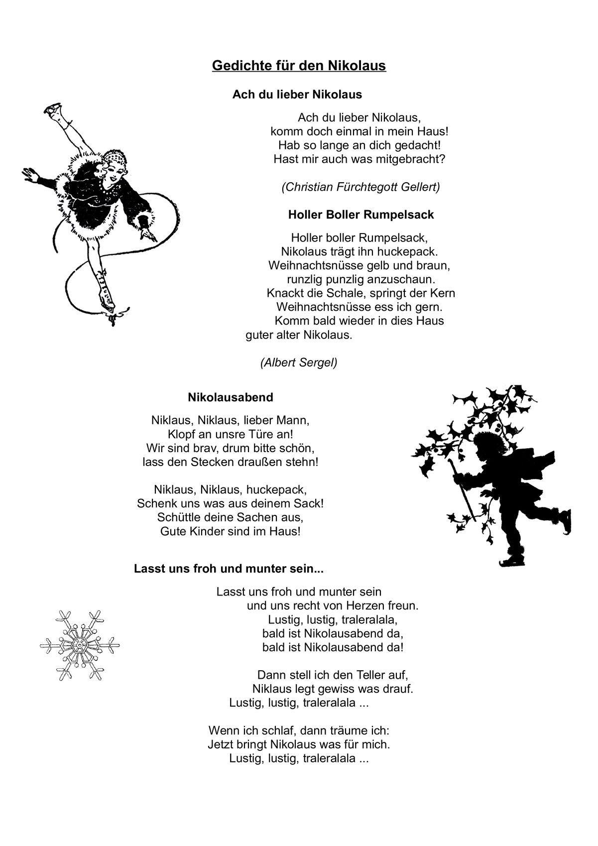 Gedichte Fur Den Nikolaus Diverses Mit Bildern Gedicht Nikolaus Gedichte Nikolaus