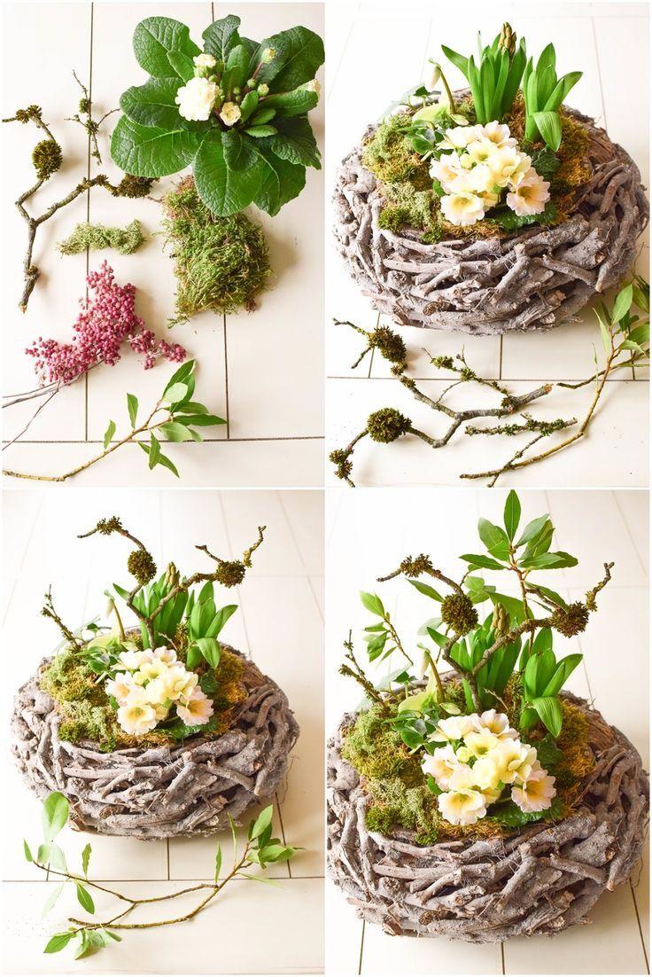 DIY Frühlingskorb: natürlich dekoriert | Natürlich ...