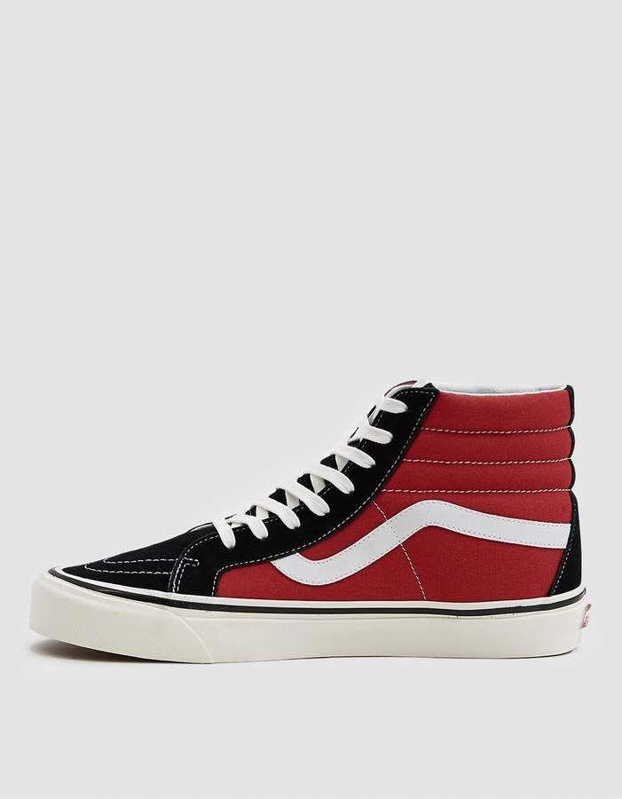 Vans Sk8-Hi 38 DX Sneaker in OG Black OG Red  mensfashiontrends ... 9ddc414d7