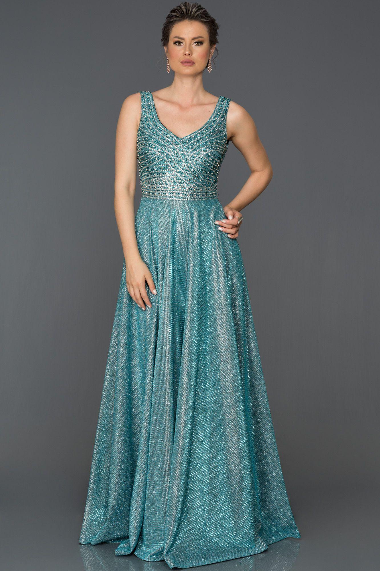 4f5852618d287 Taşlı Uzun Abiye Elbise AB4789   2018 Abiye Elbise Modelleri ...