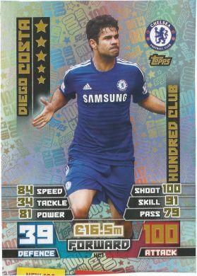 Match Attax 14 15 Extra Hundred 100 Club Trading Card Match Attax Chelsea Match Match