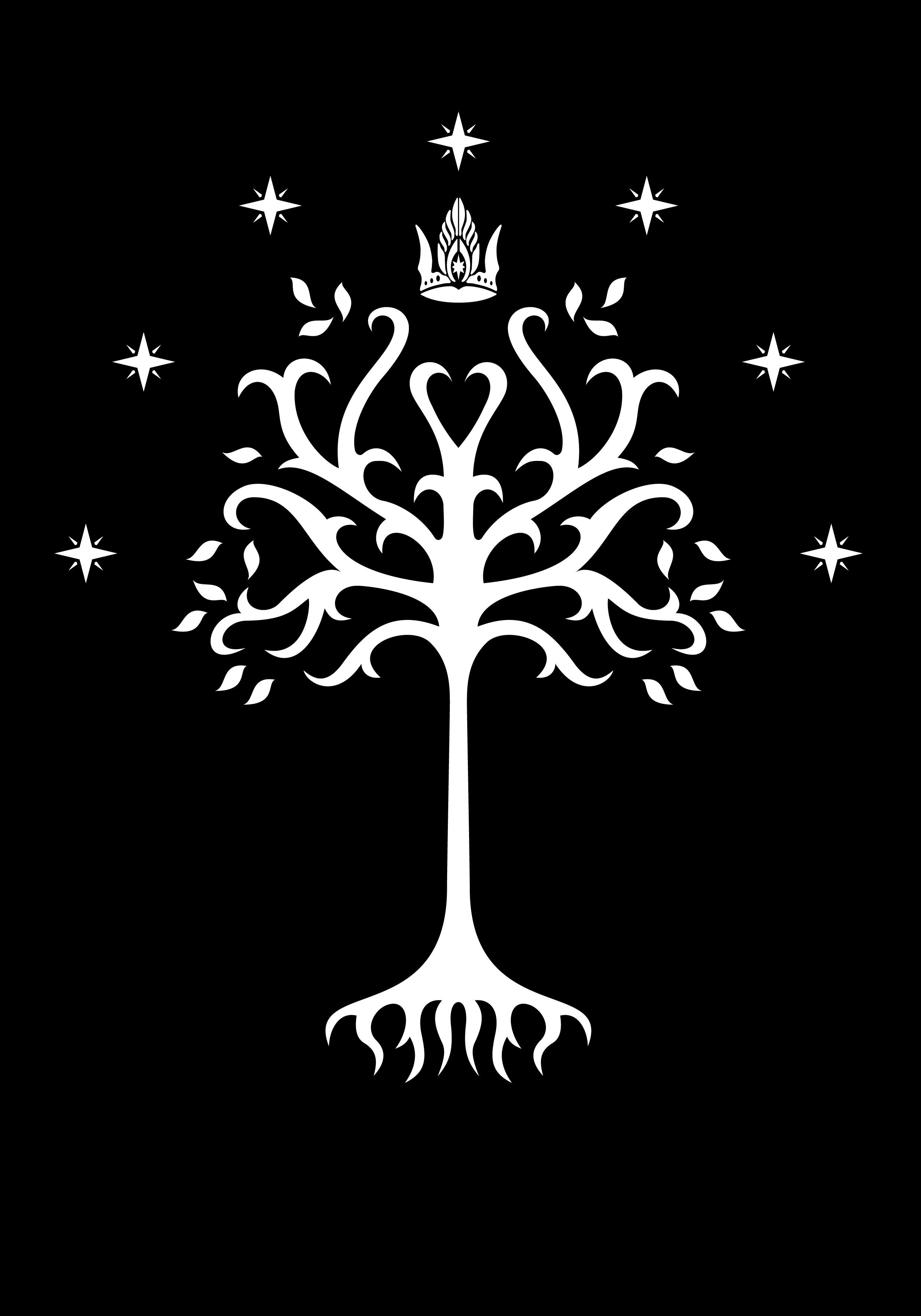 white tree of gondor from the jackson