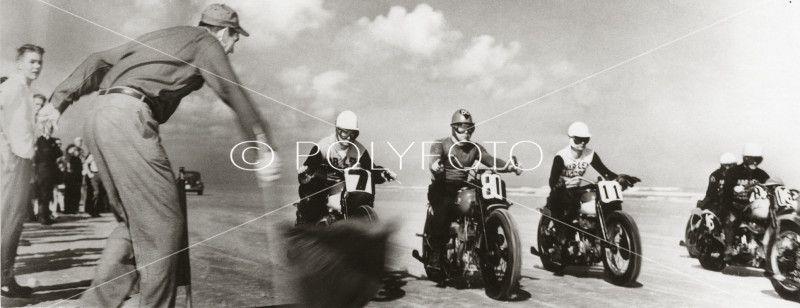 World´s Championship, Daytona Beach, USA, 1947. Foto: POLYFOTO/ Arkiv Sturlason