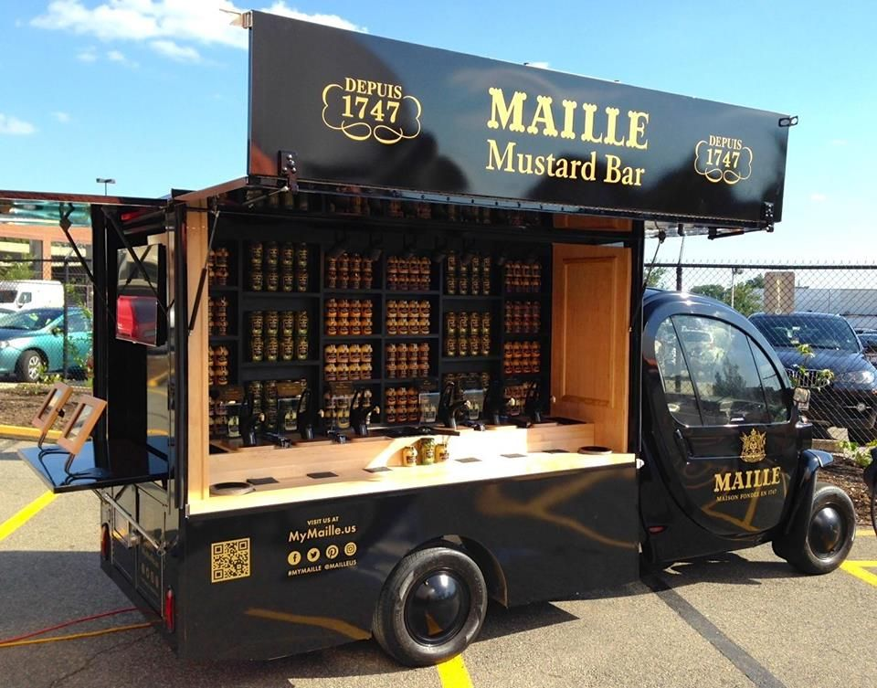 Maille mustard mobile food truck coming to boston for Bar 96 food truck