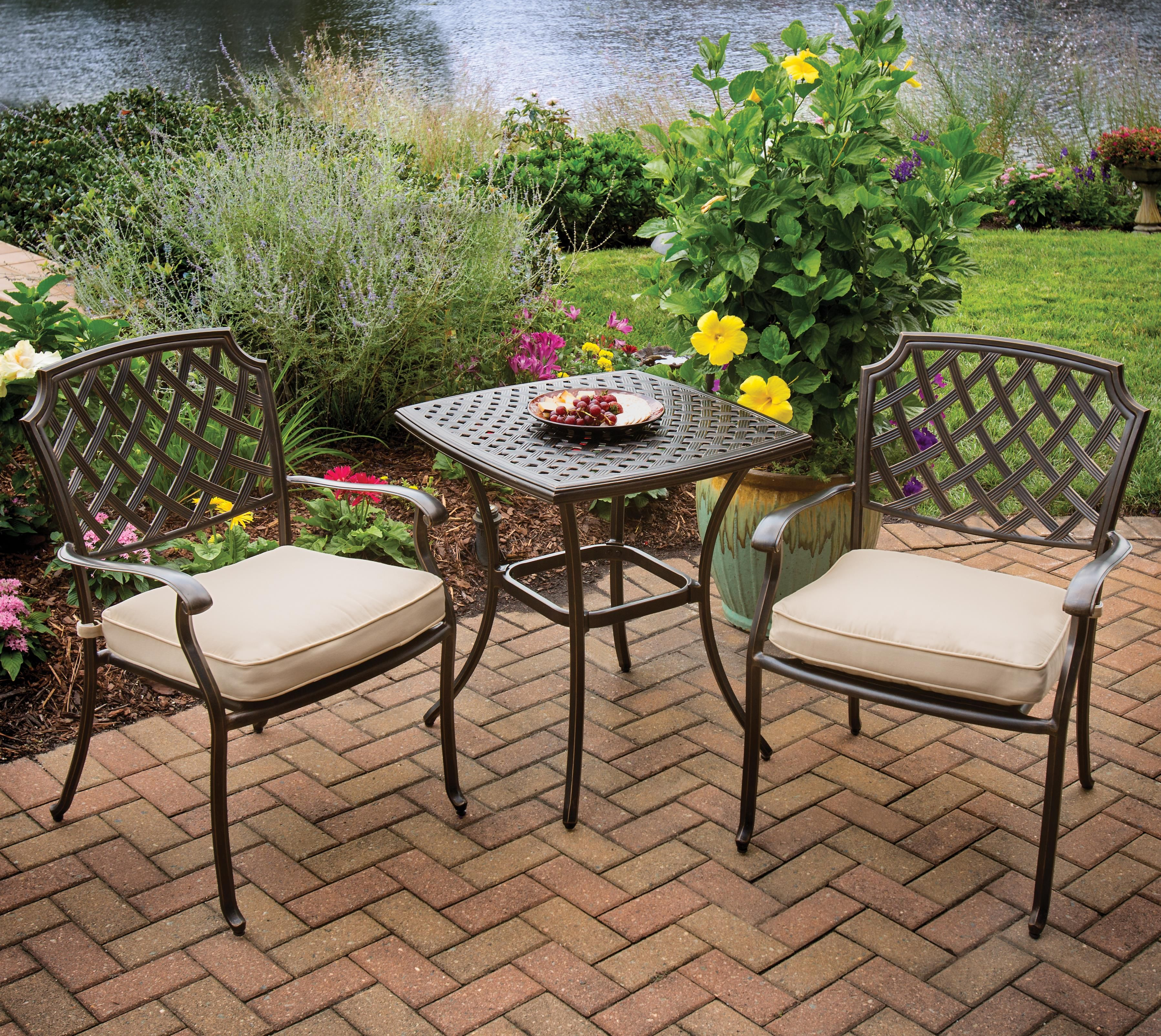Admirable Heritage Bistro Set By Agio Conlins Furniture Furniture Ibusinesslaw Wood Chair Design Ideas Ibusinesslaworg