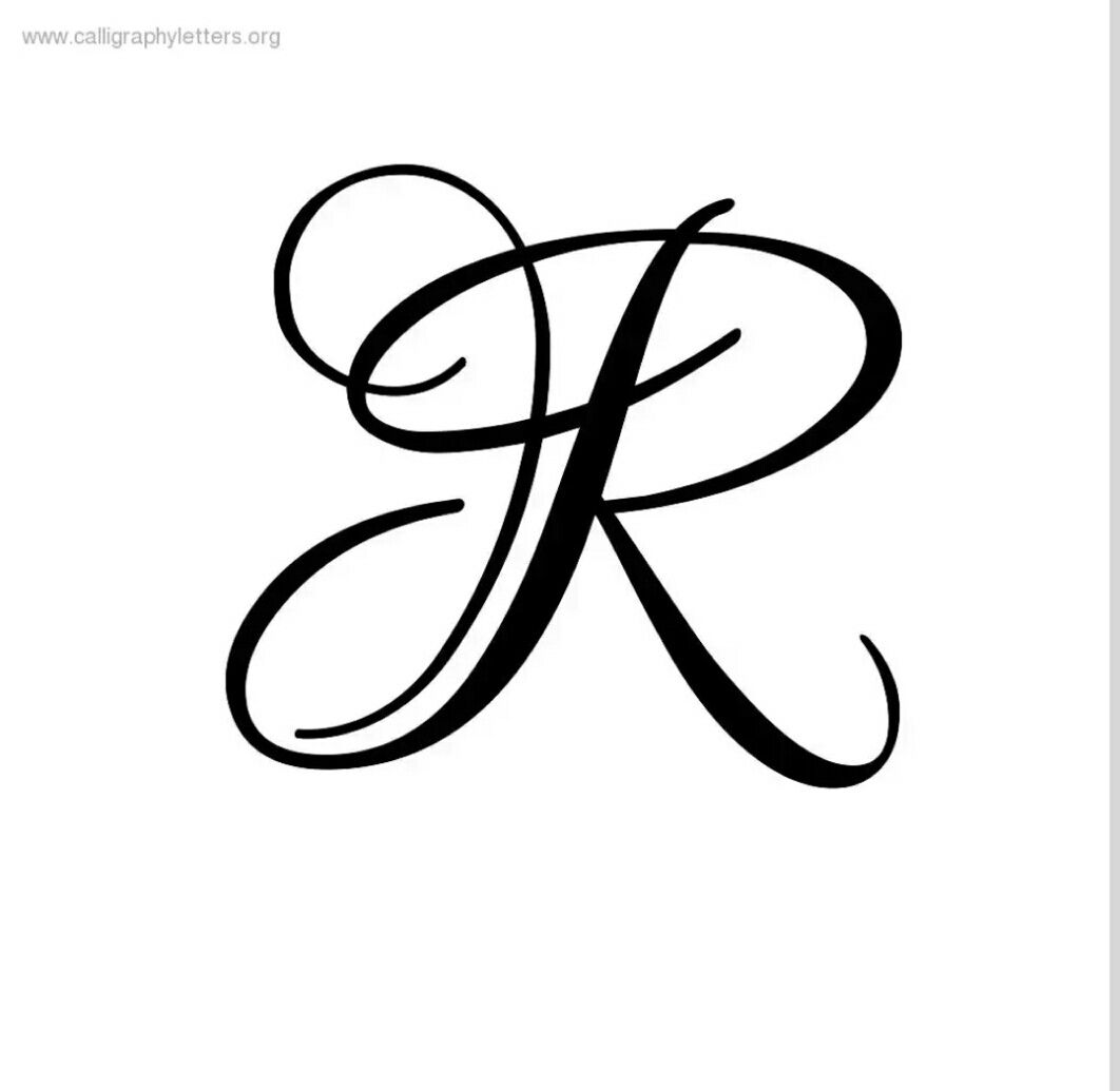R letter | Calligraphy | Tattoo fonts alphabet, Cursive r, Letter
