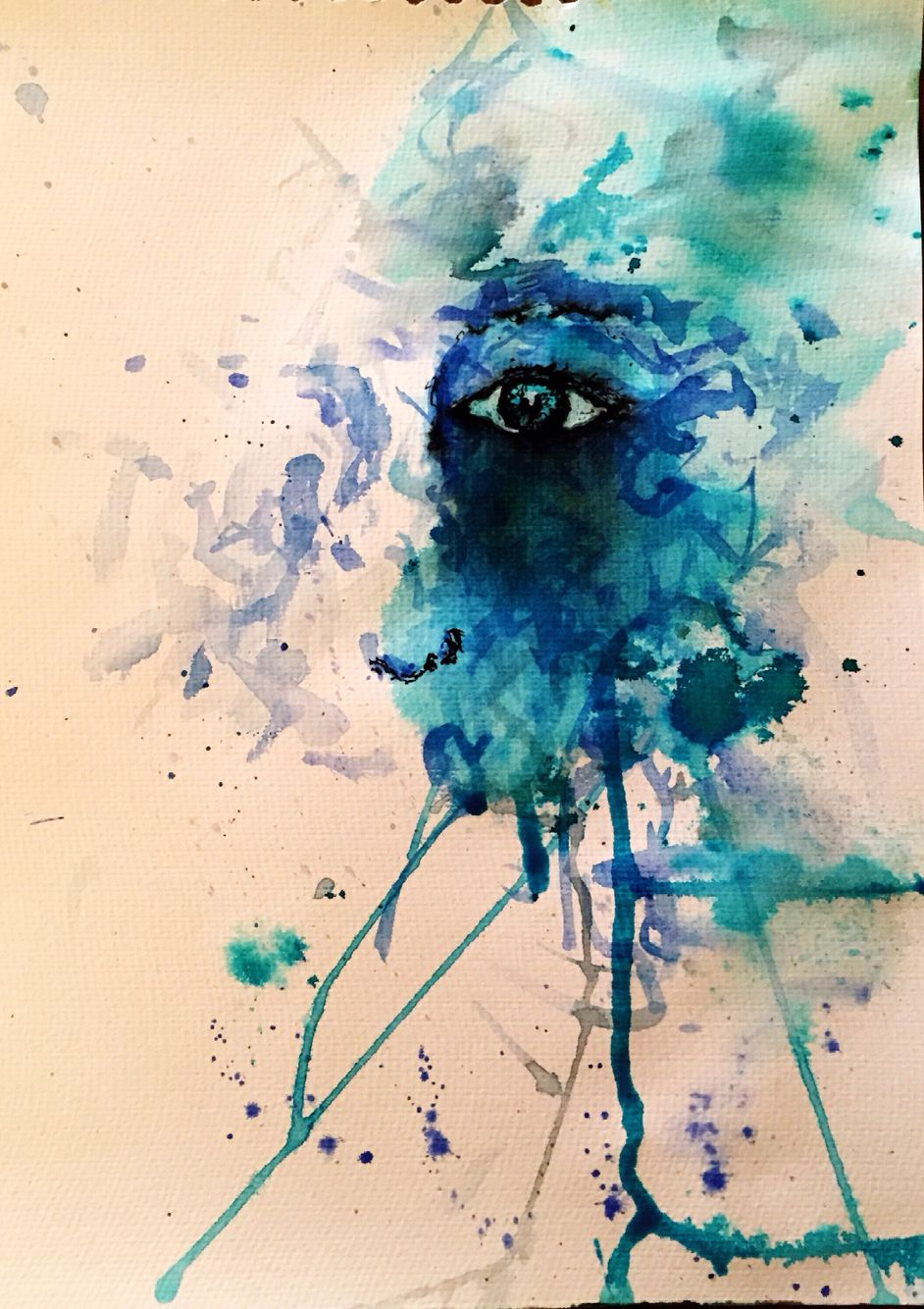 She 1 Watercolour and ink