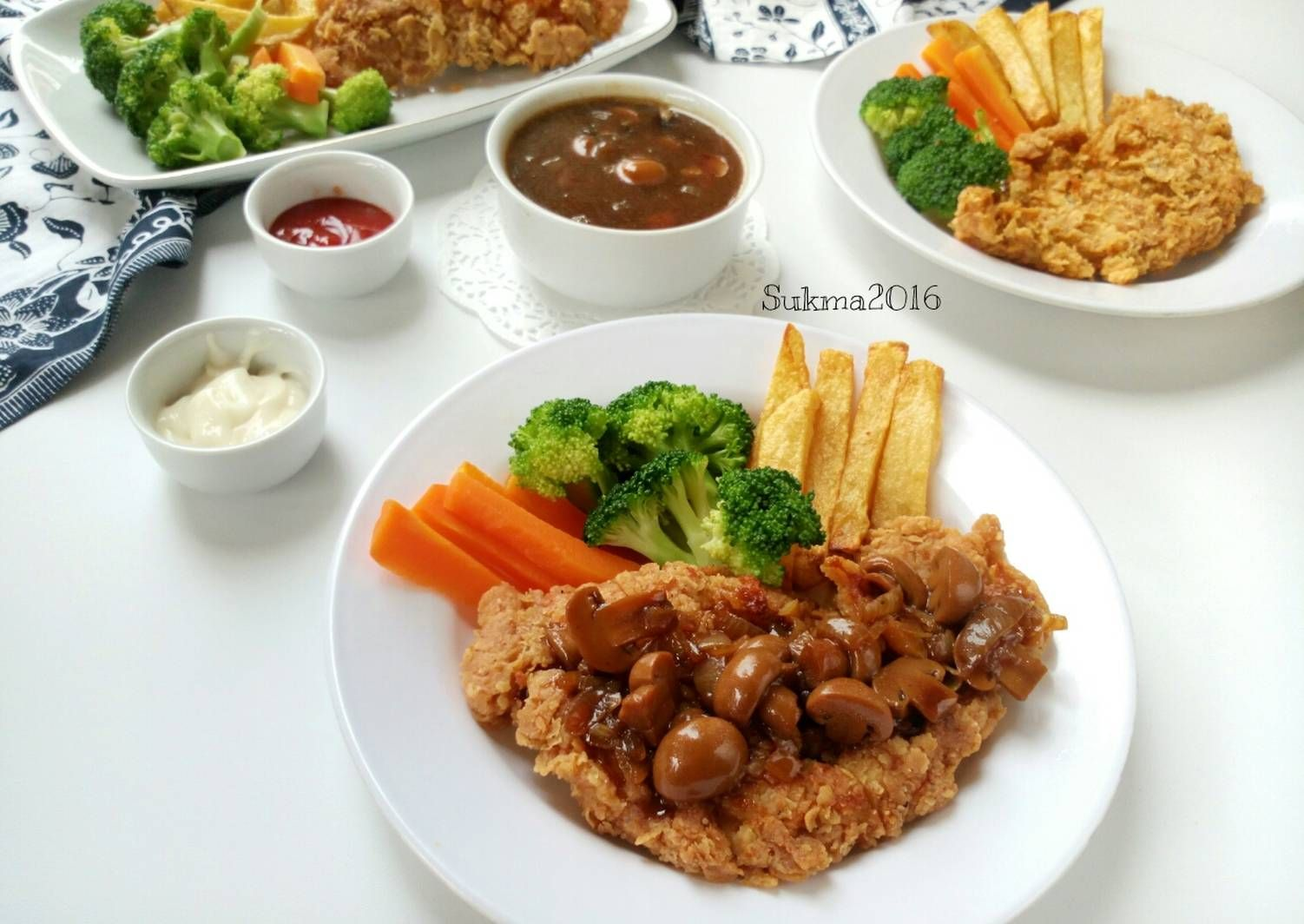 Resep Steak Ayam Crispy Saus Jamur Oleh Sukmawati Rs Resep Di 2020 Resep Steak Resep Jamur Jamur