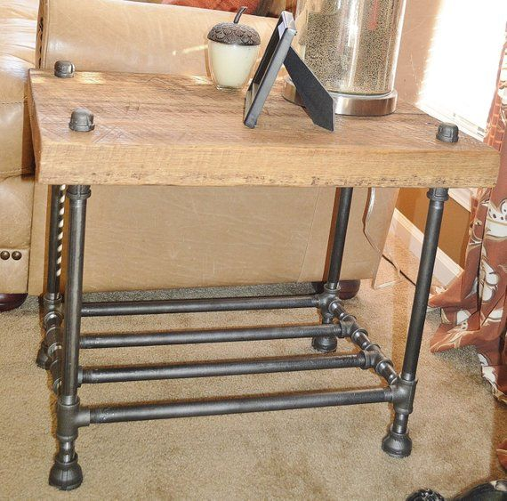 Barn Wood Furniture For Sale: Reclaimed Barn Wood End Table