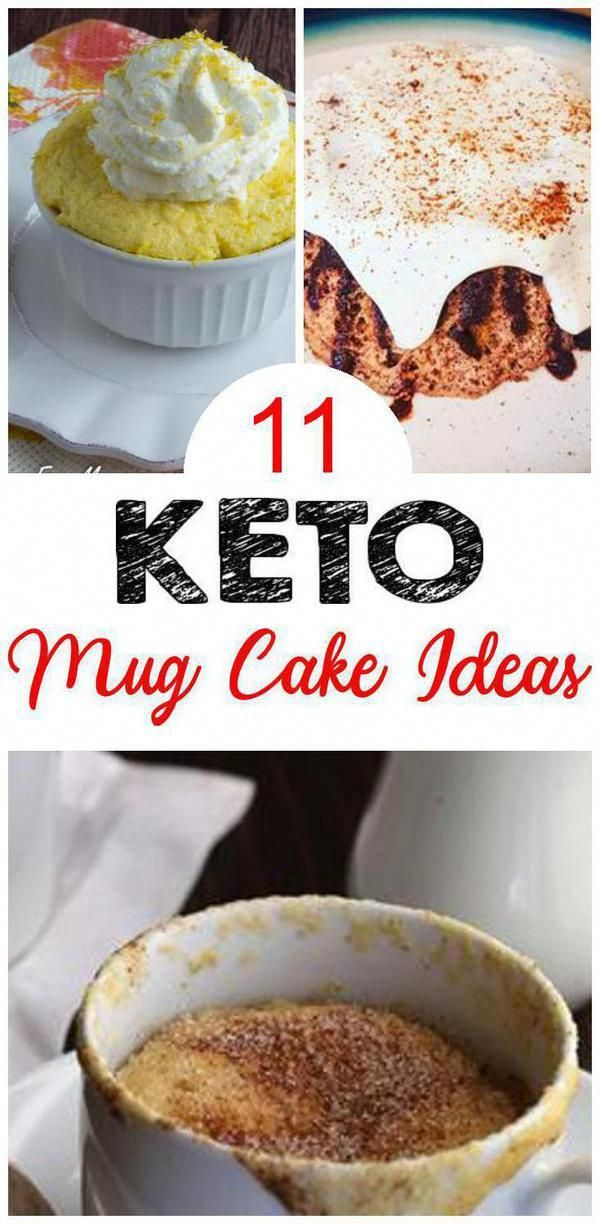Look at these keto mug cakes. You can eat a healthy ...