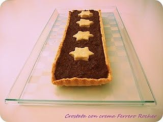 Crostata con crema simil Ferrero Rocher