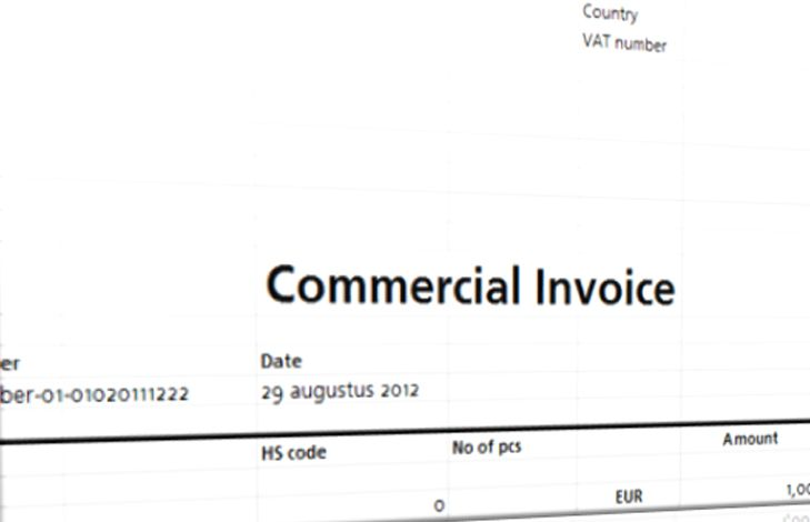 Commercial Invoice Template  Commercial Invoice Template
