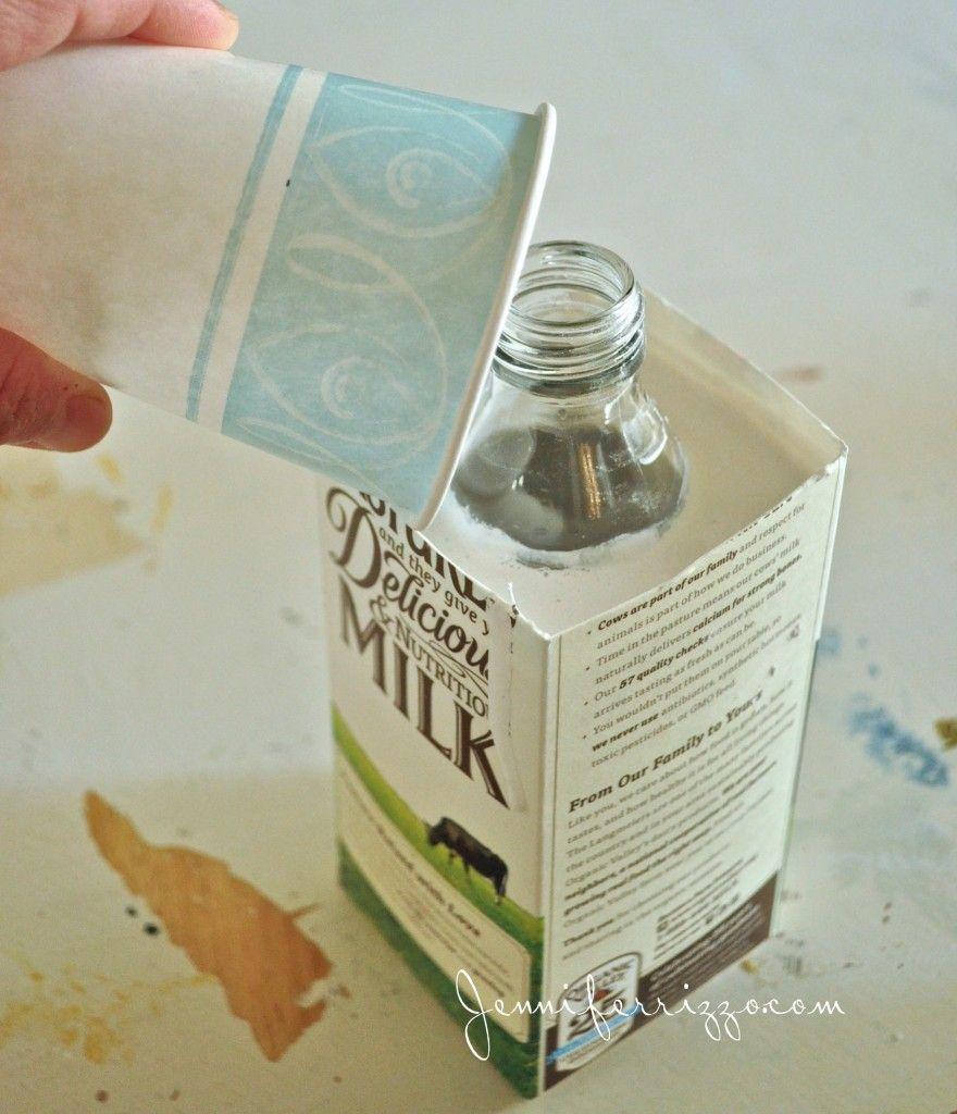 how to make reccyled bottle plaster vases