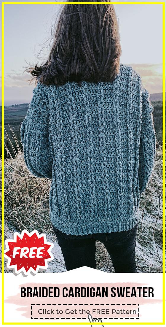 Crochet Cable Cardigan Free Pattern In 2020 Crochet Cardigan Pattern Sweater Crochet Pattern Crochet Jacket Pattern