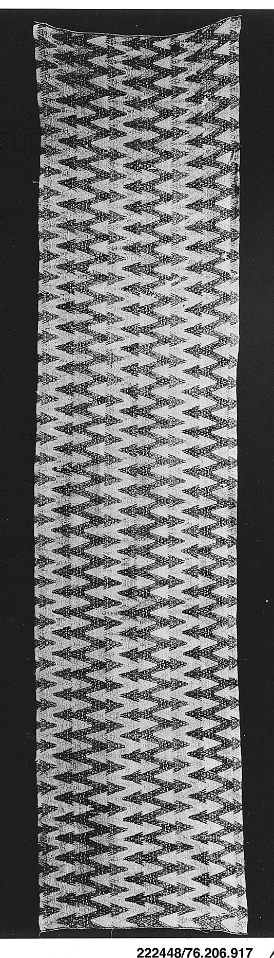 Panel  Date: 15th–16th century  Geography: Peru  Culture: Chancay  Medium: Cotton, camelid hair  Dimensions: H. 22 1/2 x W. 98 in. (57.2 x 248.9 cm)  Classification: Textiles-Woven  Accession Number: 1979.206.917