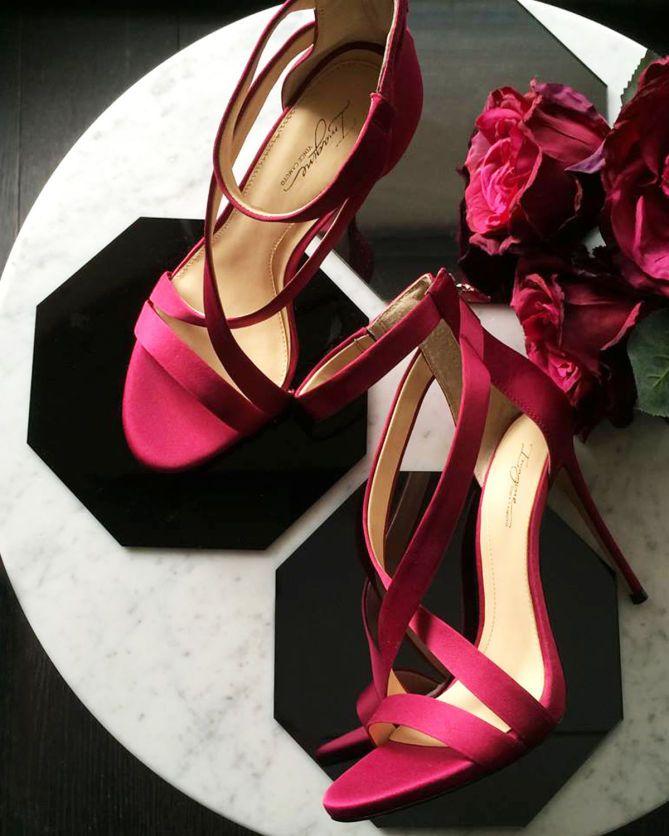 Vince Camuto IMAGINE DEVIN- SATIN CRISSCROSS STRAP HIGH HEEL - Shoes Post
