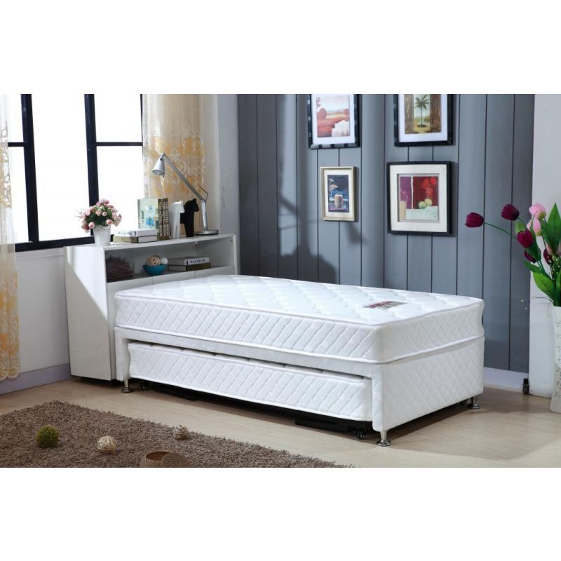 King Single Bed With Trundle And 2 Mattresses Mattress Mydeal