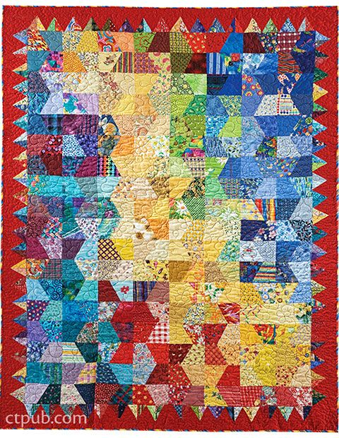 Quarter hexagons from Wonderful One-Patch Quilts - Triangles, Half-Hexagons, Diamonds & More by Sarah Nephew and Marci Baker