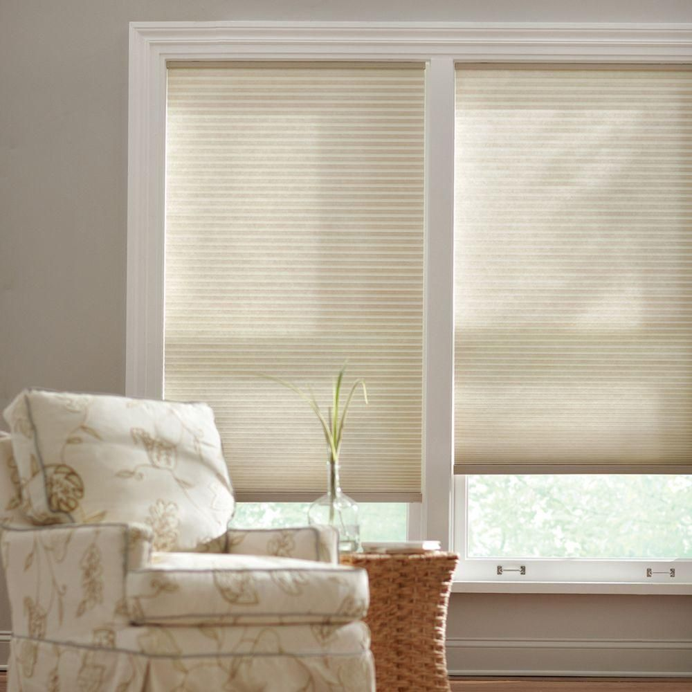 Home Decorators Collection 36 In W X 48 In L Misty Gray Cordless Light Filtering Horizontal Cellular Shade 10793478955176 The Home Depot Cellular Shades Home Decorators Collection Light Filtering Cellular Shades
