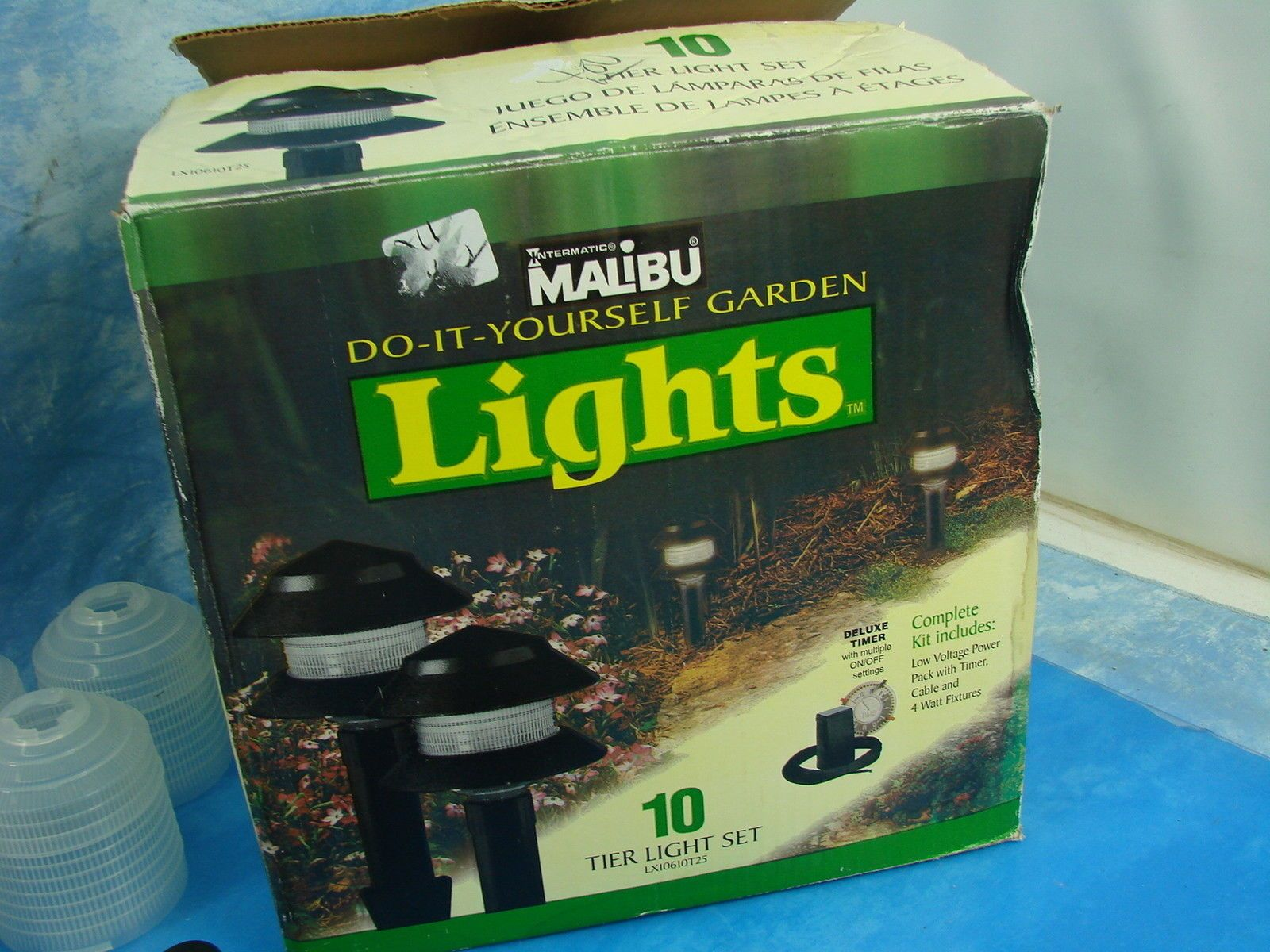 Intermatic Malibu Do It Yourself Garden Lights 9 Light Fixtures 4 Watt  Bulbs | EBay