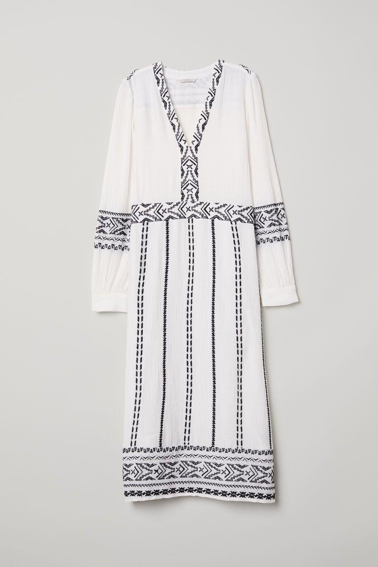 White Embroidered Jurk Met Dress BorduurselVerlanglijst 3R5c4qjLA