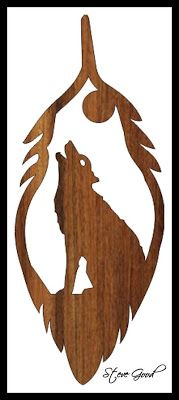 Wolf Feather Scroll Saw Pattern